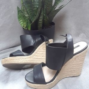 Forever 21 black espadrilles sandals